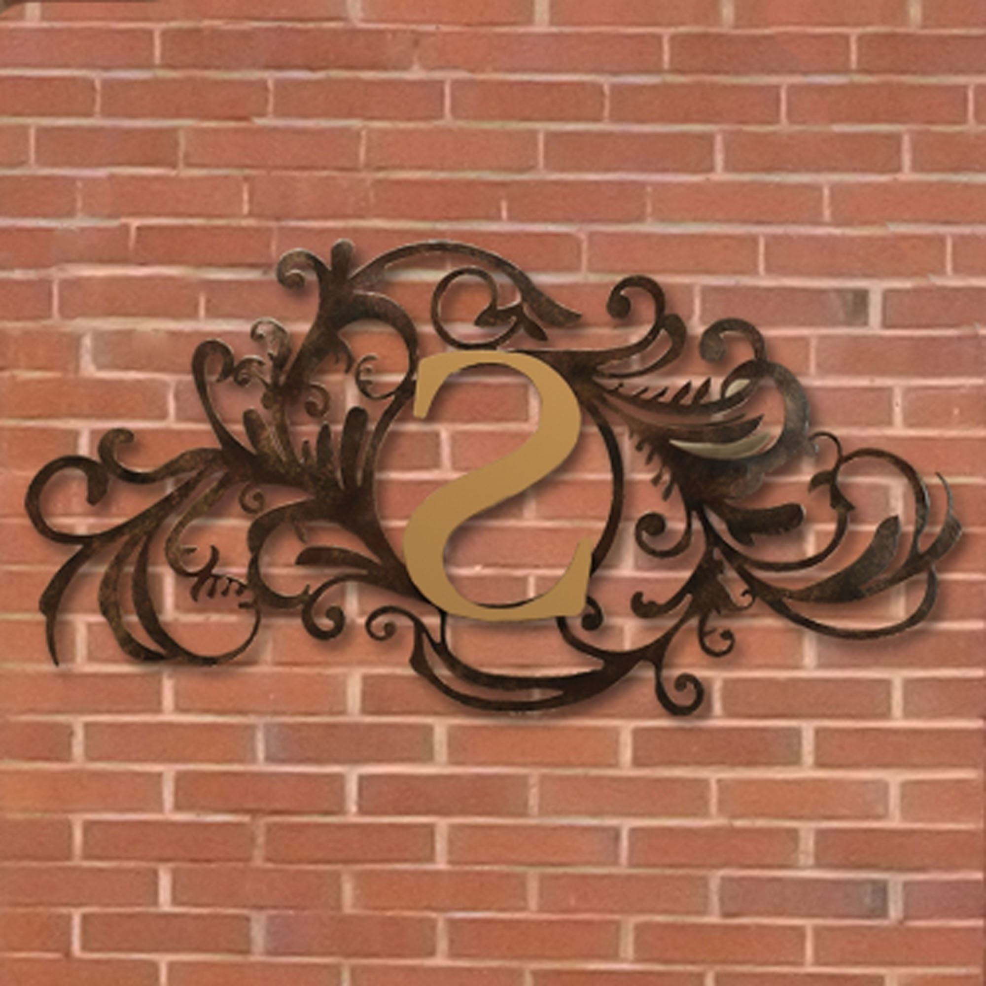 Evanston Indoor Outdoor Monogram Metal Wall Art Sign (Gallery 1 of 20)