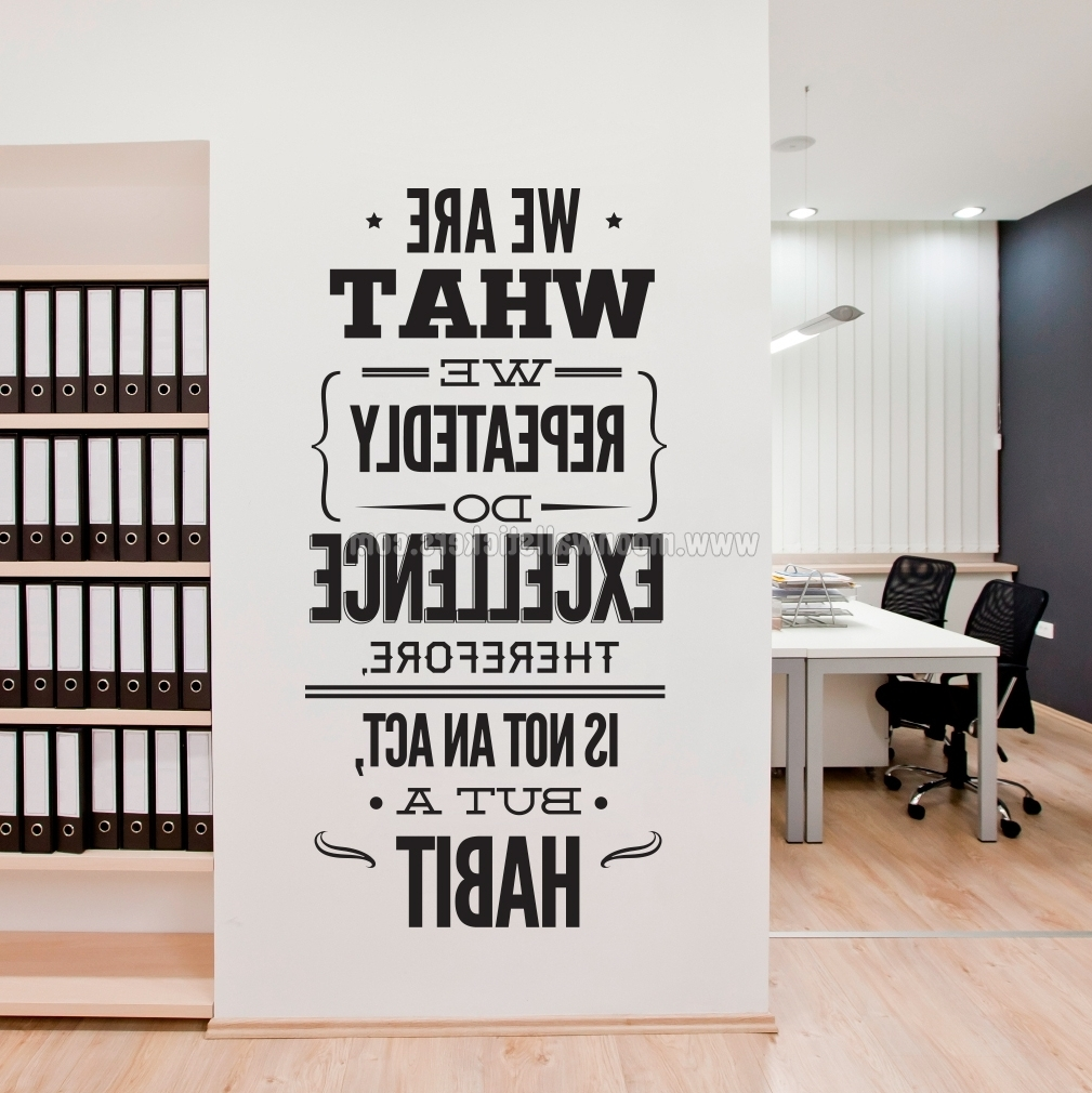 Excellence Office Decor Wall Sticker – Moonwallstickers Throughout Most Current Office Wall Art (View 3 of 15)