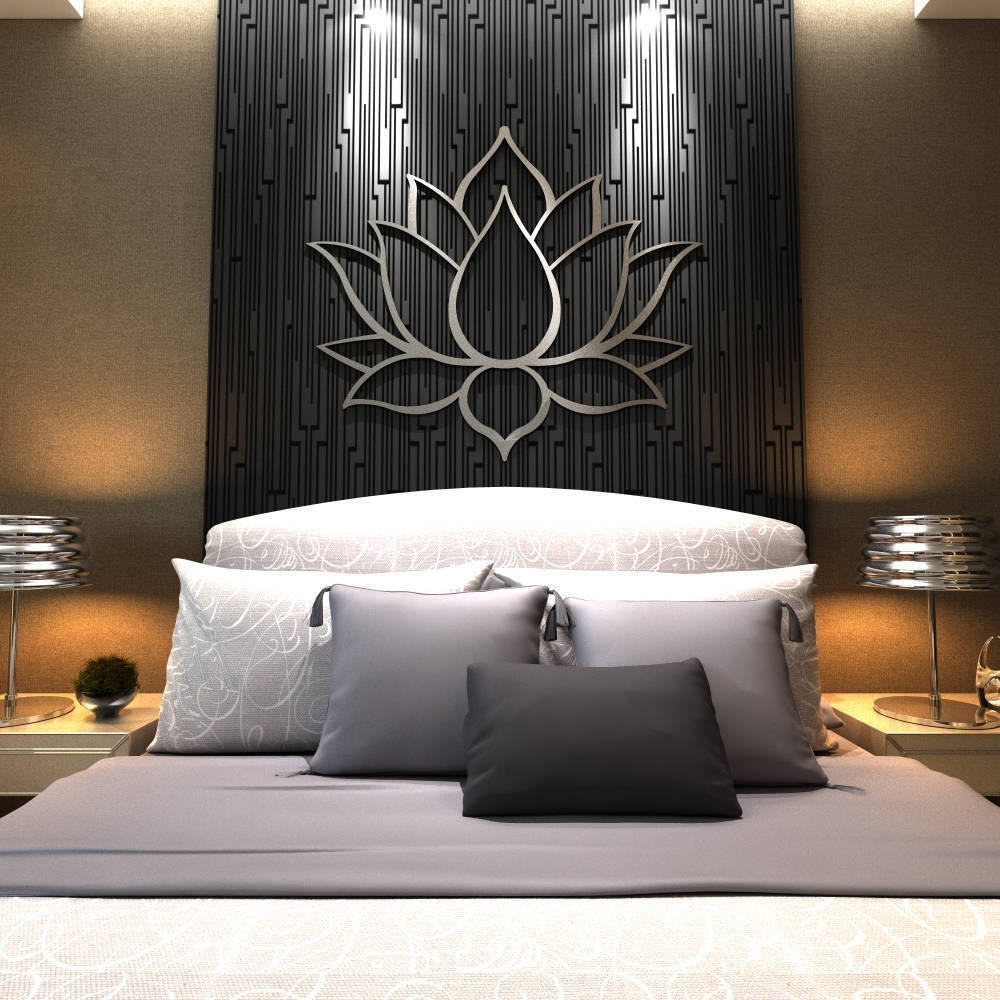Extra Large Wall Art Intended For Most Up To Date Xl Lotus Flower Metal Wall Art, Contemporary Sculpture, Extra Large (View 4 of 20)