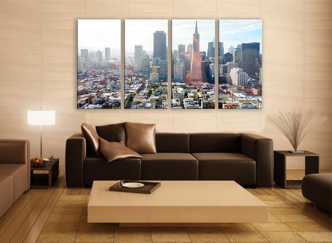 Extra Large Wall Art San Franciscco Cityscape Photography For Home With Newest Extra Large Wall Art (Gallery 16 of 20)