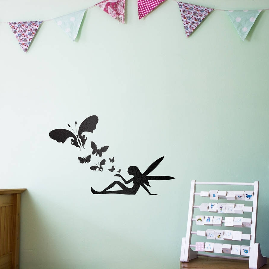 Fairy Butterflies Wall Art Decal For Kidsvinyl Revolution Regarding Widely Used Butterfly Wall Art (Gallery 1 of 15)