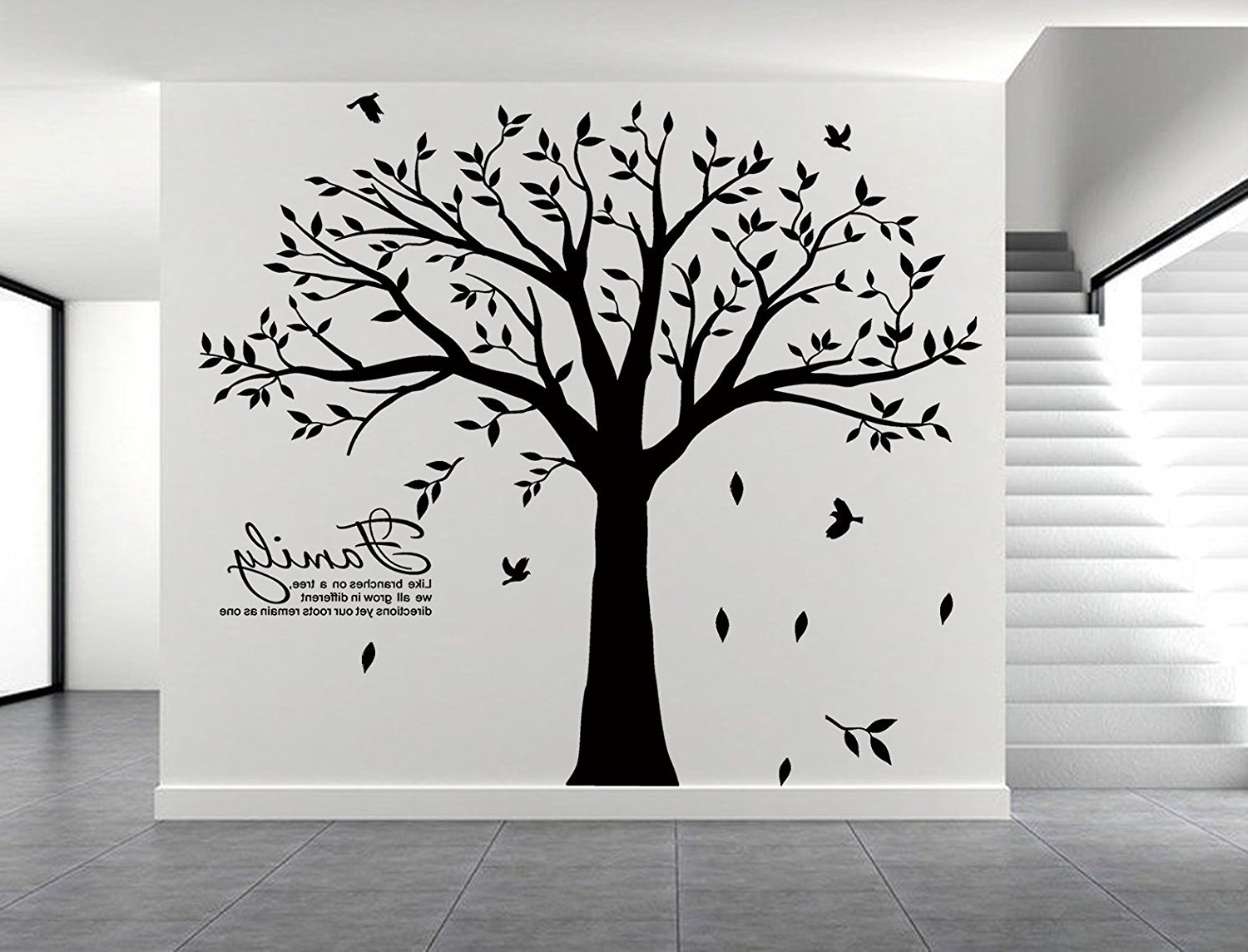 Family Tree Wall Art For Latest New Family Tree Wall Decal Vinyl Stickers Living Room Home Decor (View 5 of 15)