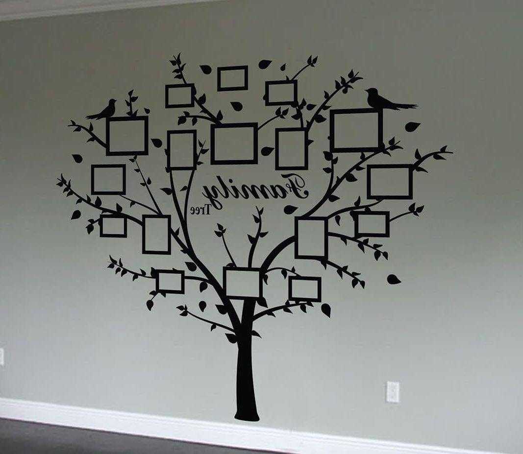 Family Tree Wall Art Intended For Fashionable Family Tree Quote And Decal Frames (Gallery 1 of 15)