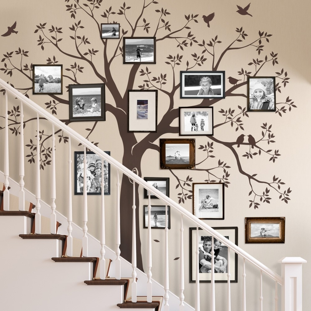 Family Tree Wall Art Throughout Most Up To Date Staircase Family Tree Wall Decal – Tree Wall Decal, Organic Giant (Gallery 11 of 15)