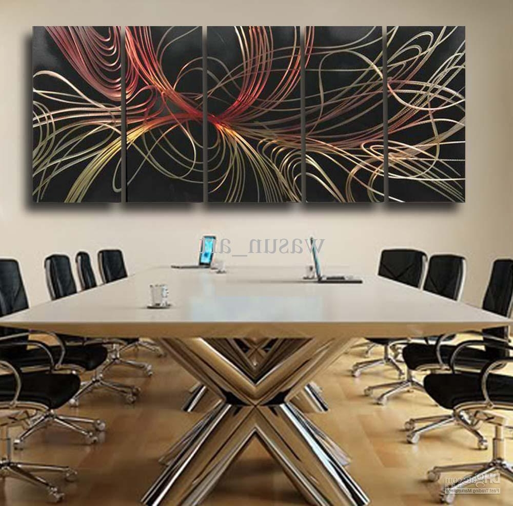 Famous 2018 Modern Abstract Painting,metal Wall Art Sculpture,wall Hangings In Contemporary Wall Art Decors (View 11 of 20)