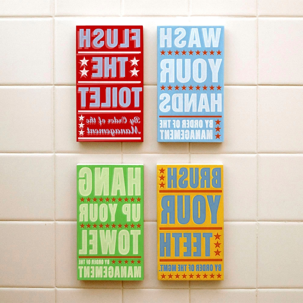 Famous Bathroom Wall Art & Decorating Tips » Inoutinterior Intended For Bathroom Wall Art Decors (View 7 of 15)