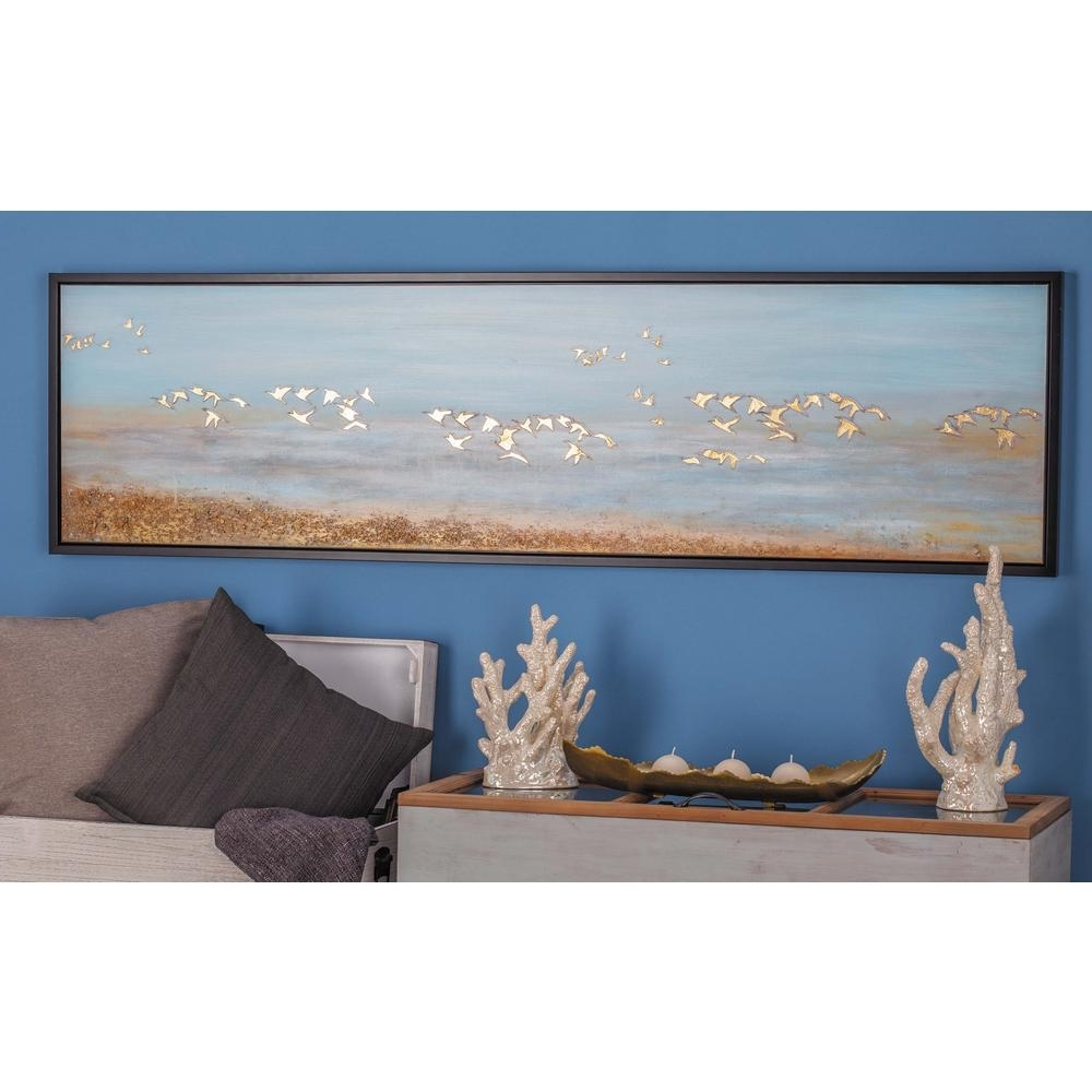 Famous Bird Framed Canvas Wall Art Pertaining To Litton Lane 19 In. X 71 In (View 11 of 20)