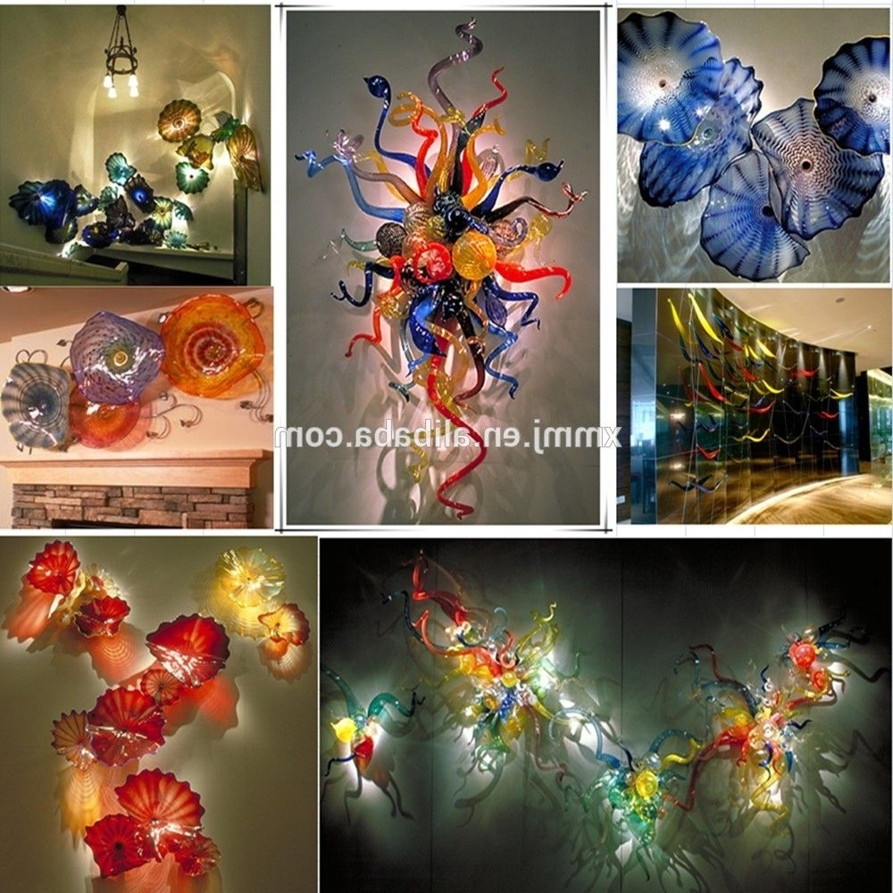 Famous Blown Glass Wall Art Inside Hand Made Decorative Blown Murano Art Colored Glass Murals Wall (View 6 of 20)