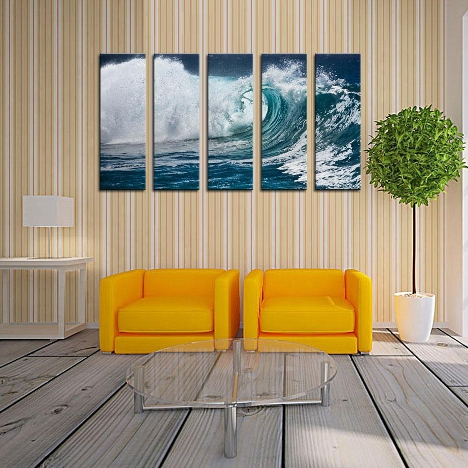Famous Buy Cheap Paintings For Big Save, Wave Seascape Print On Canvas Within Ocean Wall Art (View 13 of 20)