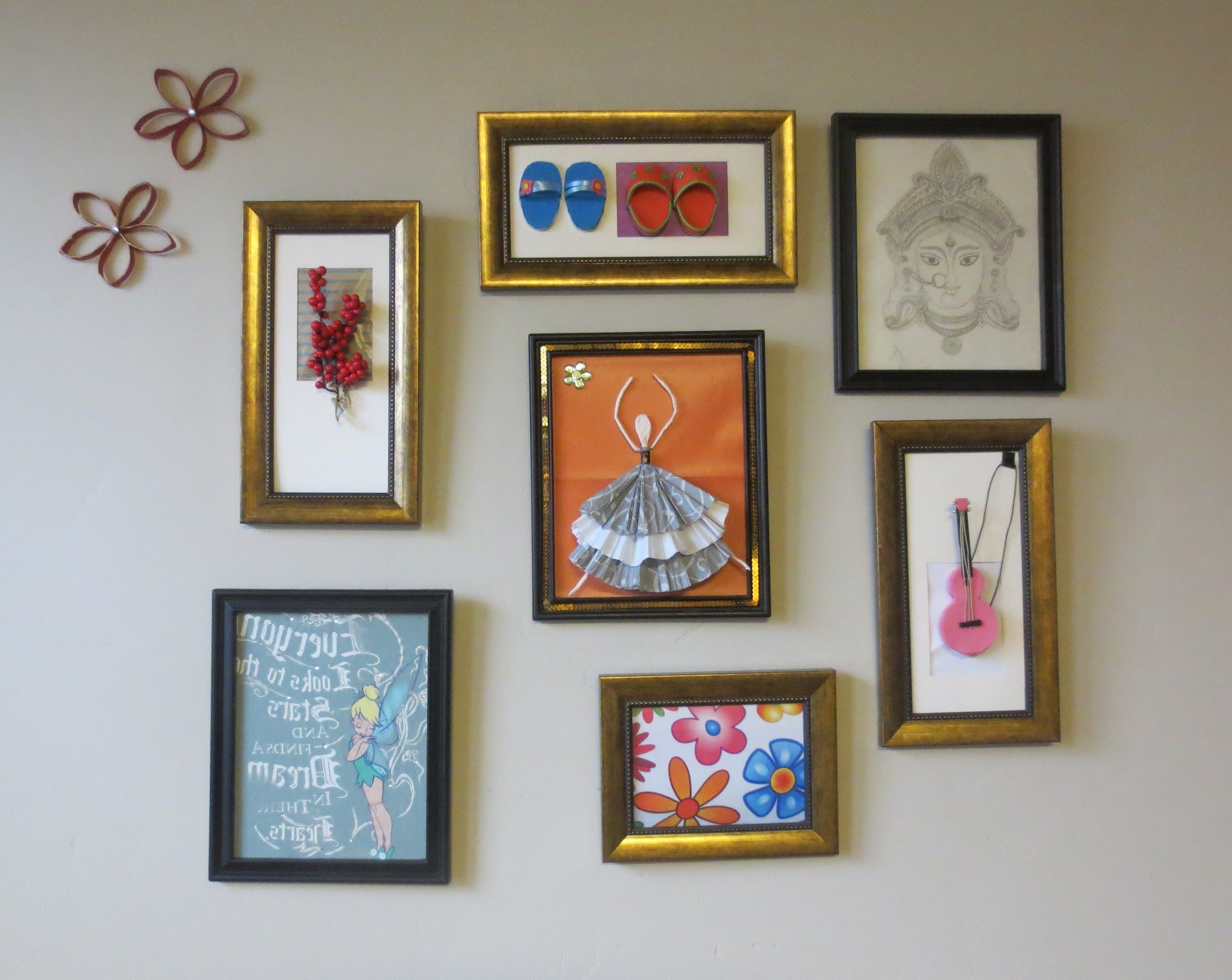 Famous Cheap Framed Wall Art With Regard To Home Decor : Tshirt Graphic & 3d Wall Art Picture Frame Collage (View 5 of 20)