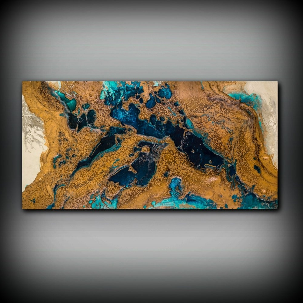 Famous Copper Wall Art In Giclee Abstract Fine Art Print From Original Acrylic Abstract (View 5 of 15)