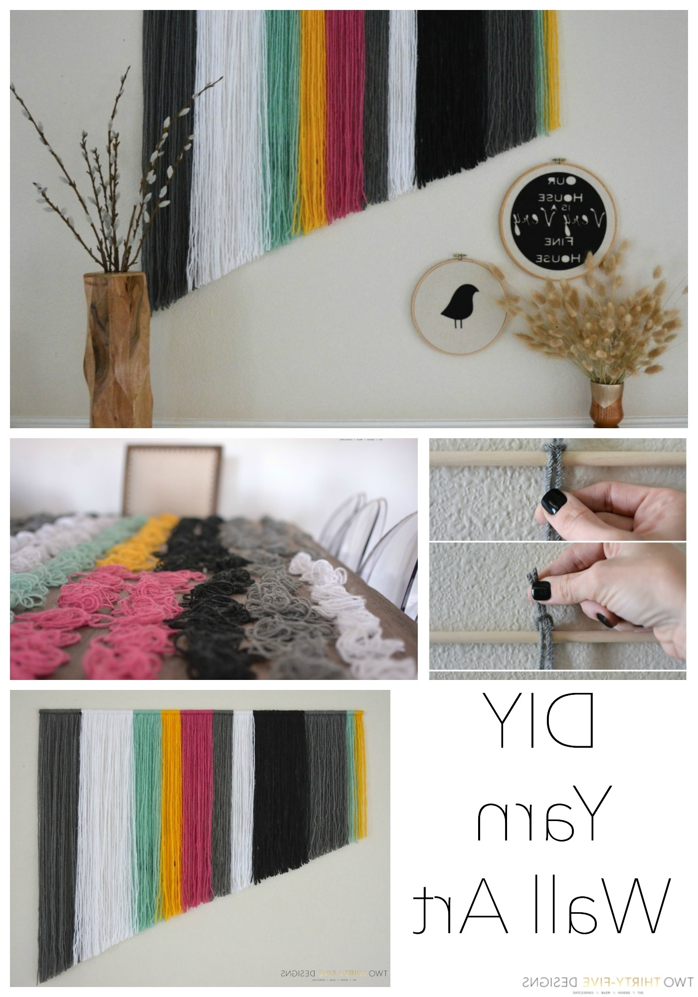 Famous Diy Yarn Wall Art – Two Thirty Five Designs Throughout Yarn Wall Art (View 6 of 20)
