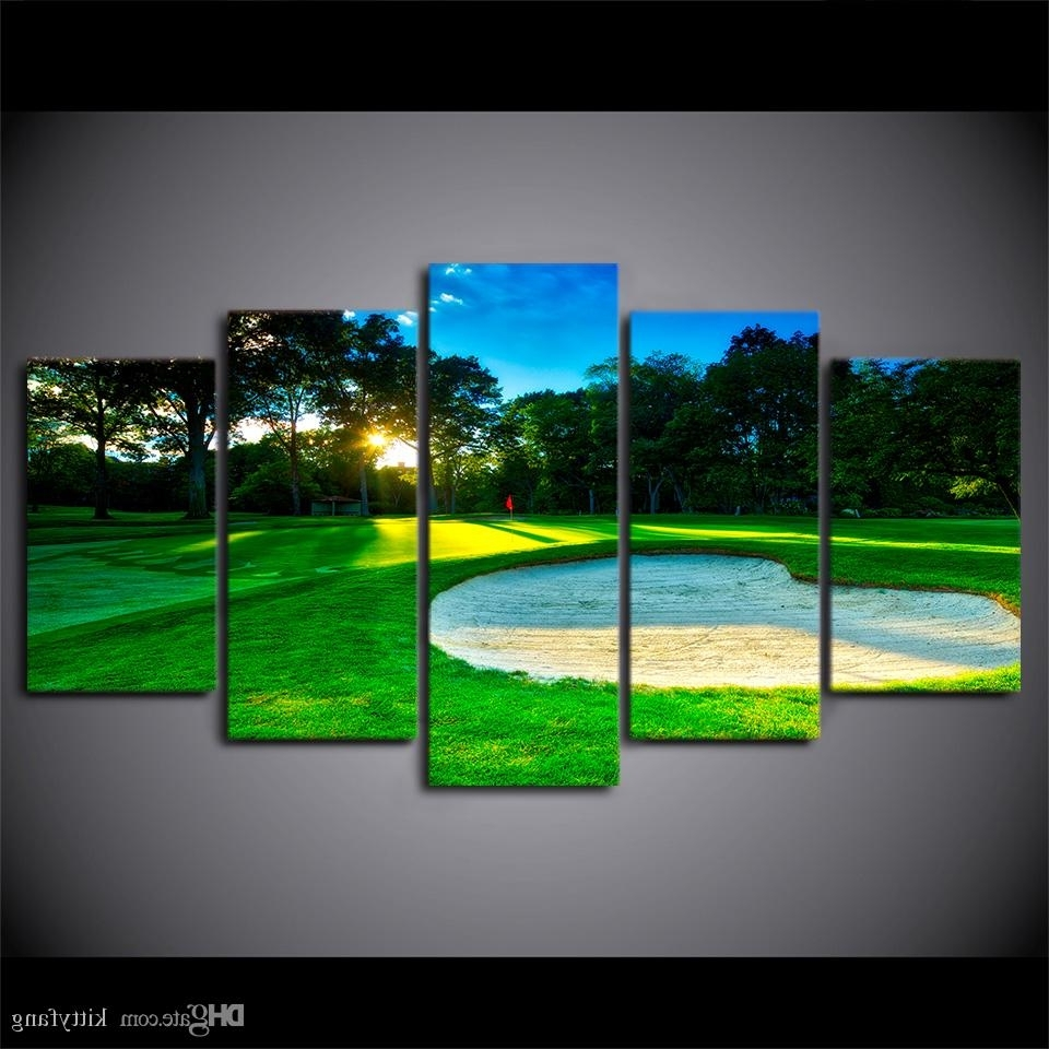 Famous Golf Canvas Wall Art Inside 2018 Canvas Wall Art Pictures Home Decor Framework Spring Golf (View 14 of 20)