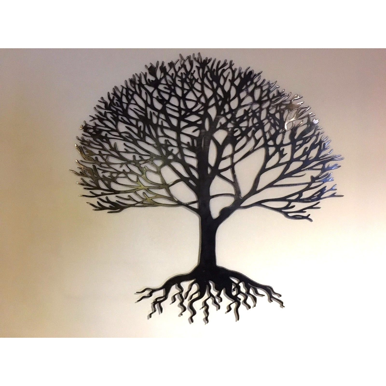 Famous Home & Garden :: Metal Wall Art :: Solid Steel Metal Tree Of Life Pertaining To Tree Of Life Wall Art (Gallery 7 of 15)