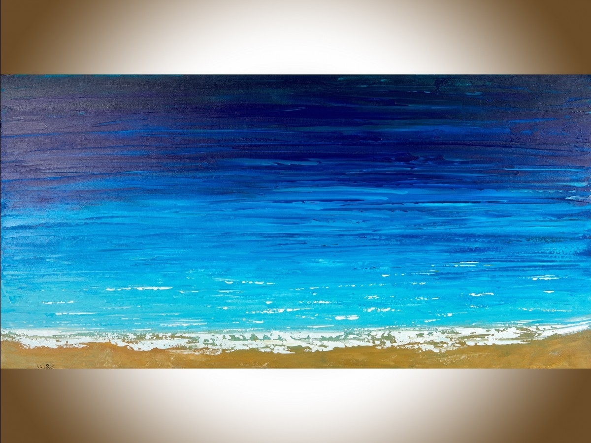 "Famous Ocean Wall Art With Regard To Reach The Shoreqiqigallery 48"" X 24"" Ocean Weave Ocean Wall Art (View 8 of 20)"