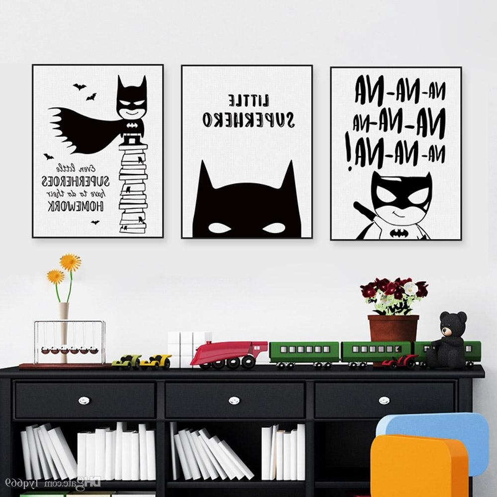 Famous Online Cheap Nordic Black White Superhero Batman Hippie Quote Poster Throughout Batman Wall Art (Gallery 10 of 20)