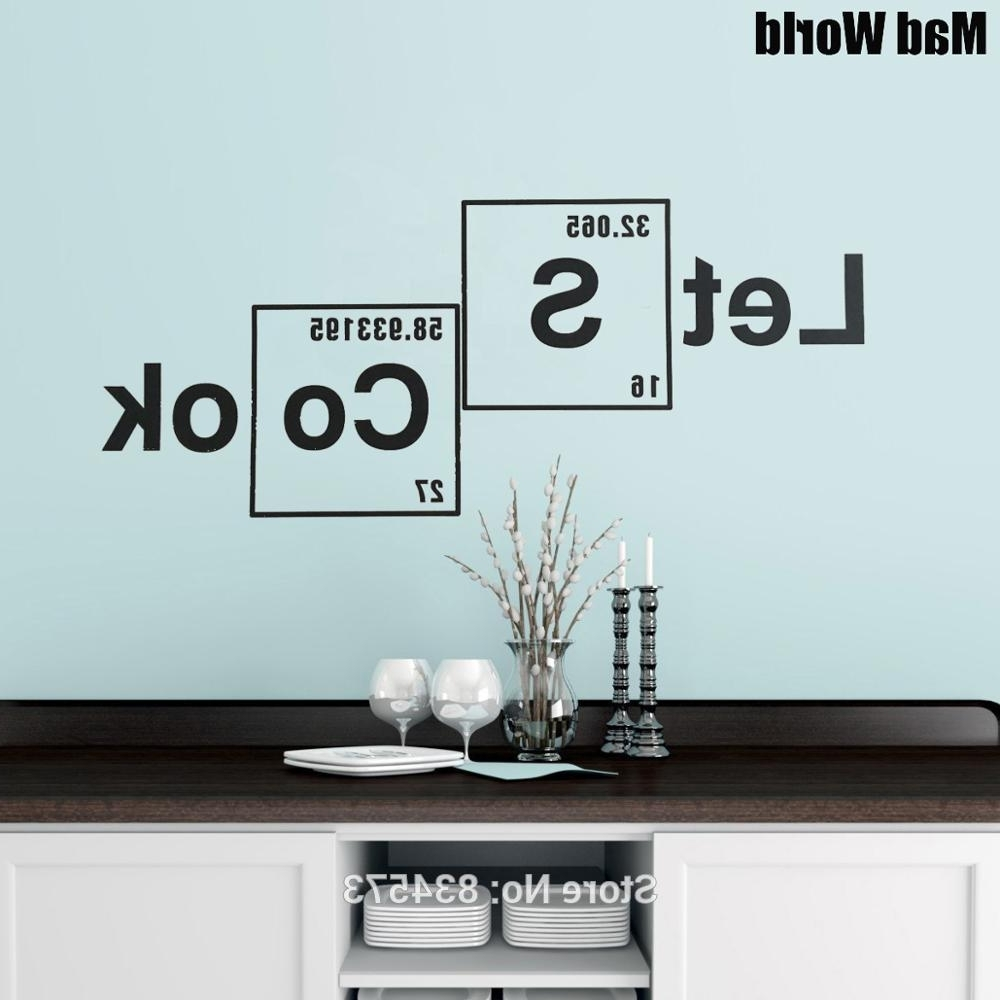 Famous Periodic Table Wall Art For Mad World Let's Cook Periodic Table Elements Wall Art Stickers Wall (View 4 of 20)