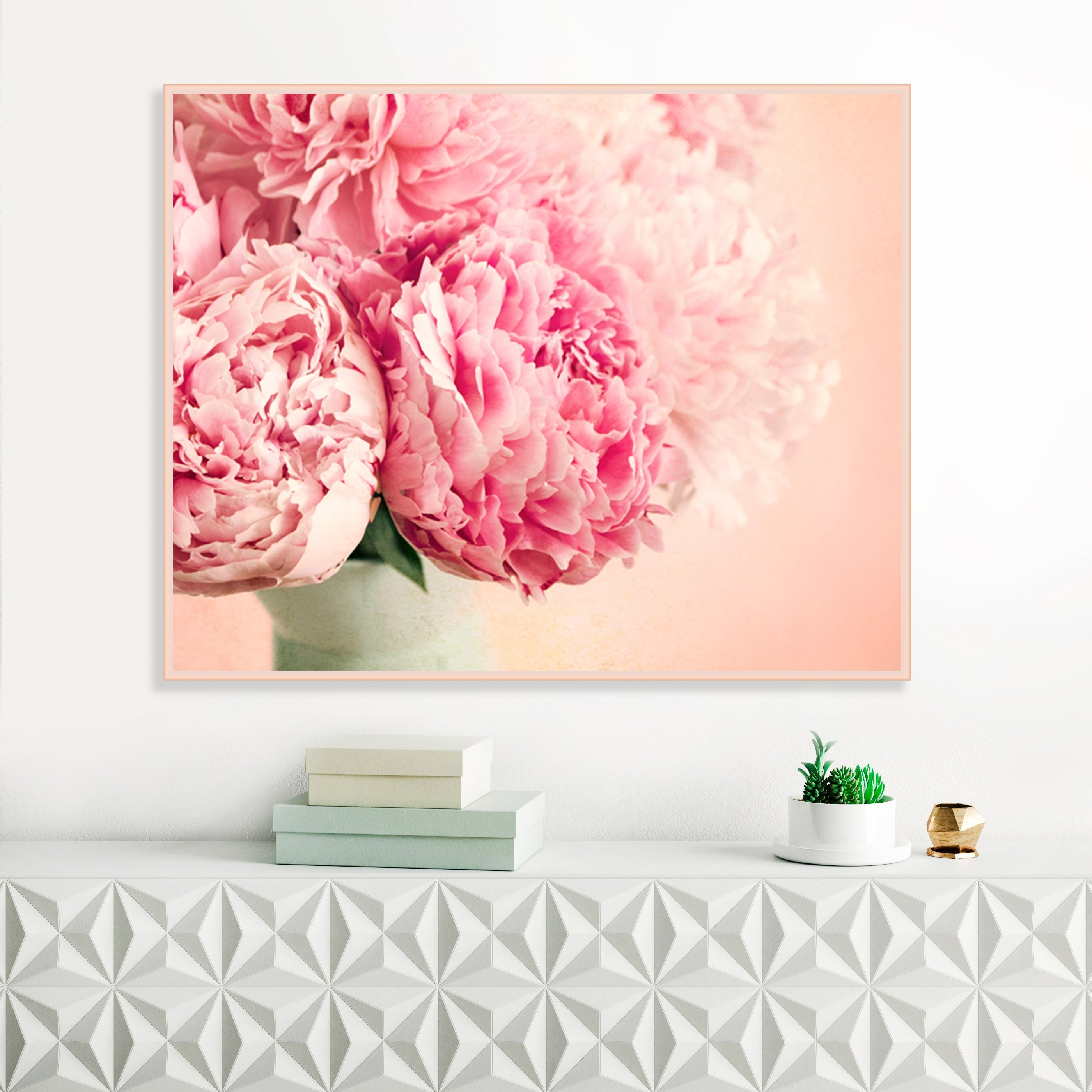Famous Pink Wall Art With Regard To Pink Peonies, Flower Prints, Blush Pink Wall Art, Peonies Still Life (View 17 of 20)