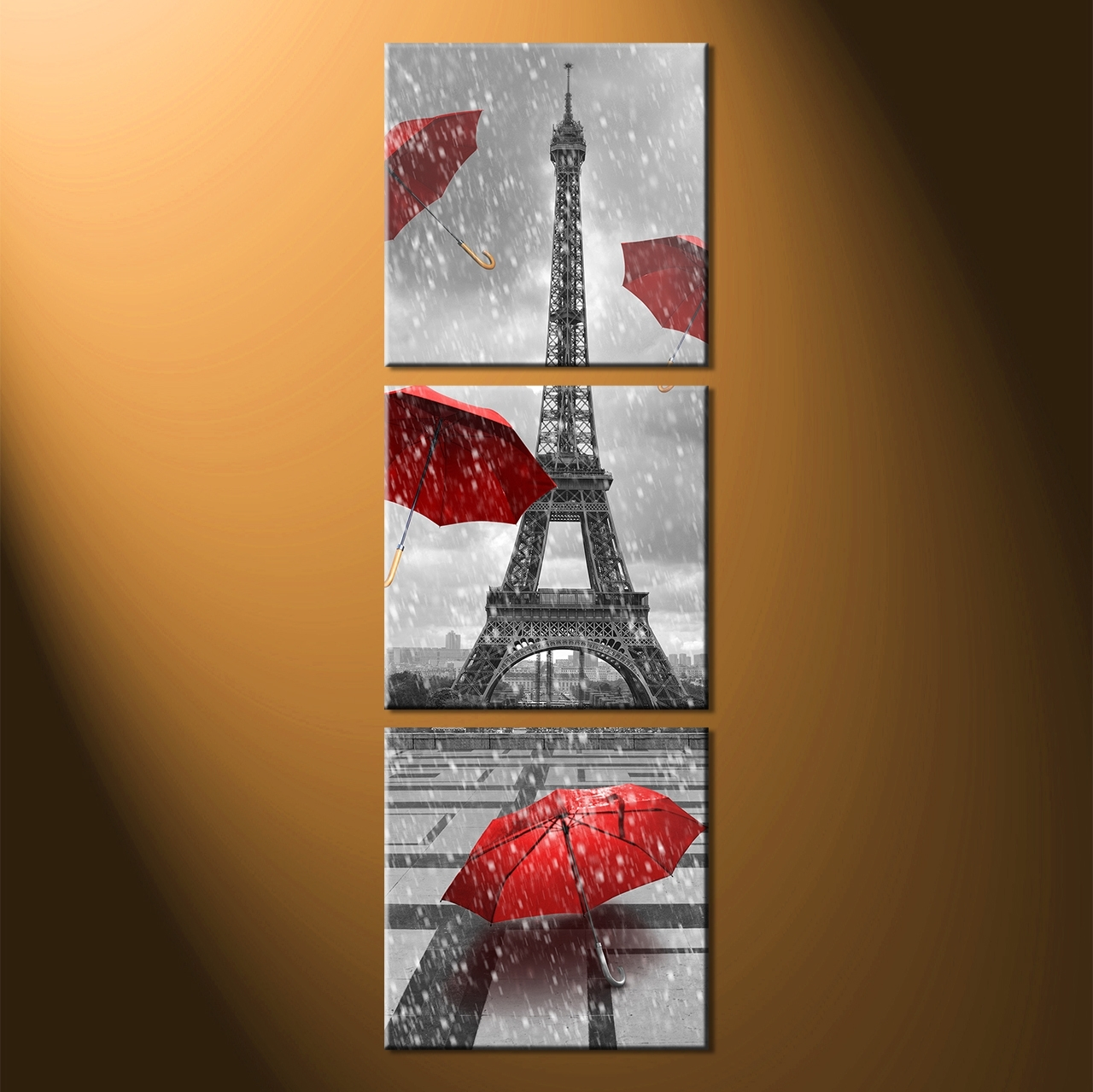 Famous Vertical Wall Art Inside Large Vertical Wall Art Eiffel : Andrews Living Arts – Fascinating (View 4 of 20)