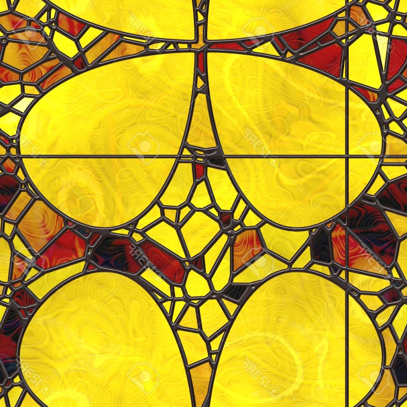 Famous Wall Art  Nature. Stained Glass  Abstract Pattern (View 2 of 20)