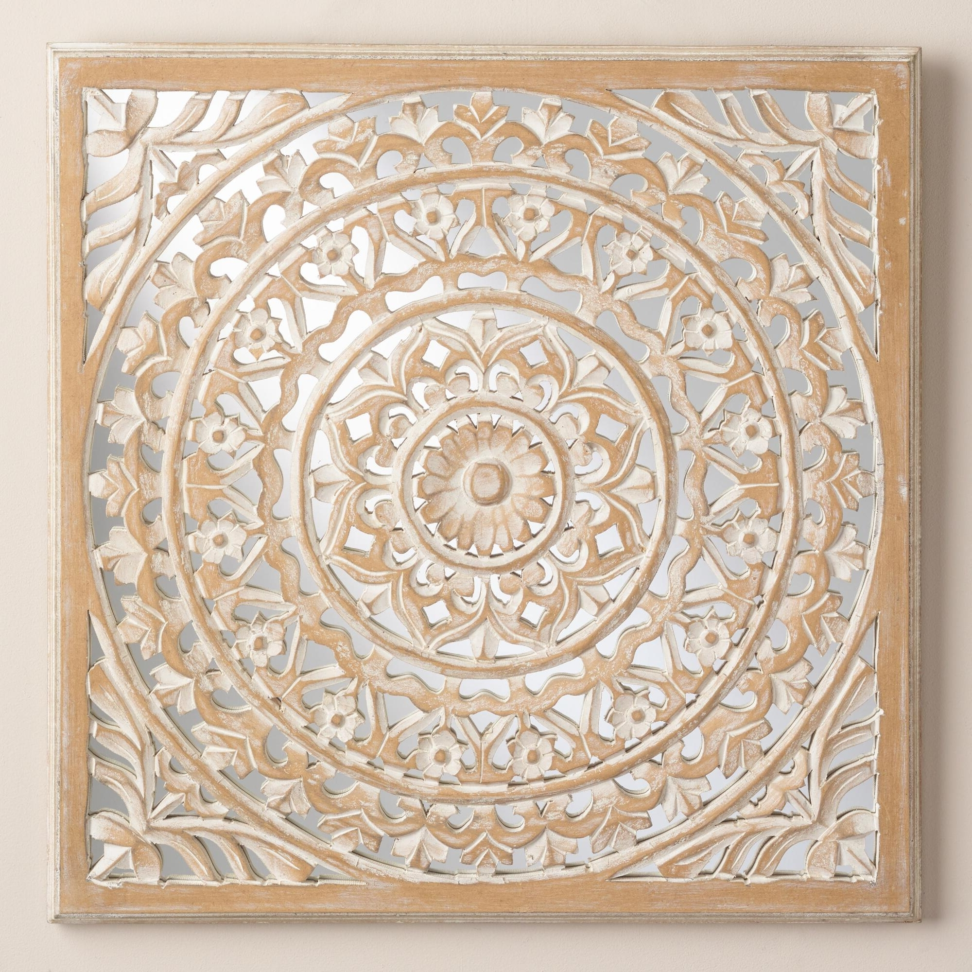 Famous Wood Medallion Wall Art With Regard To Wood Medallion Wall Art Stickers Scrolled Metal Wall Medallion Decor (View 4 of 20)