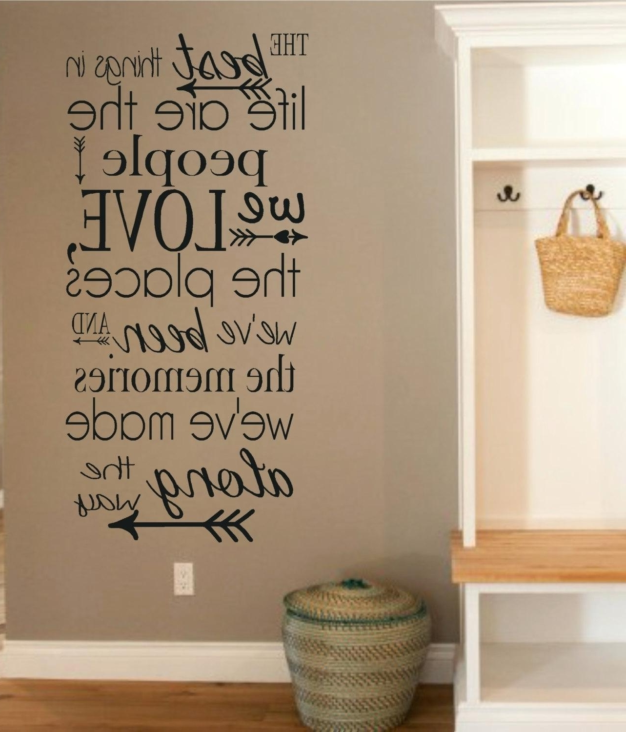 Famous Word Decals For Wall – Gutesleben Within Word Wall Art (Gallery 16 of 20)