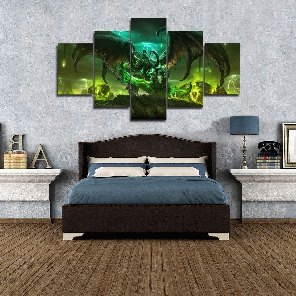 Famous World Of Warcraft Legion Wall Art Prints Canvas 5 Piece Poster With Wall Art Prints (Gallery 20 of 20)