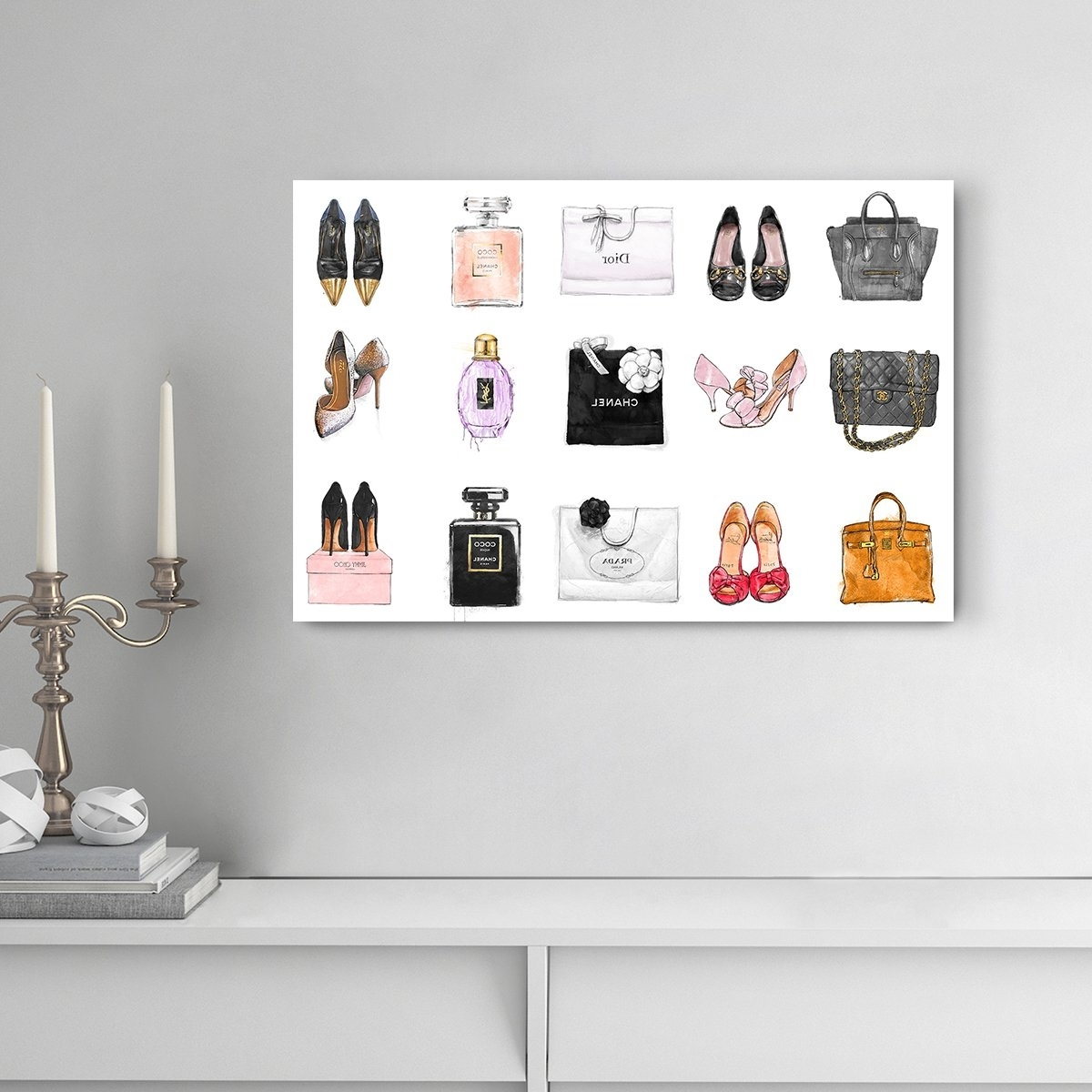 Fashion Wall Art Pertaining To Current Fashion Chart' Contemporary Canvas Wall Art Print For Home Decor And (Gallery 19 of 20)