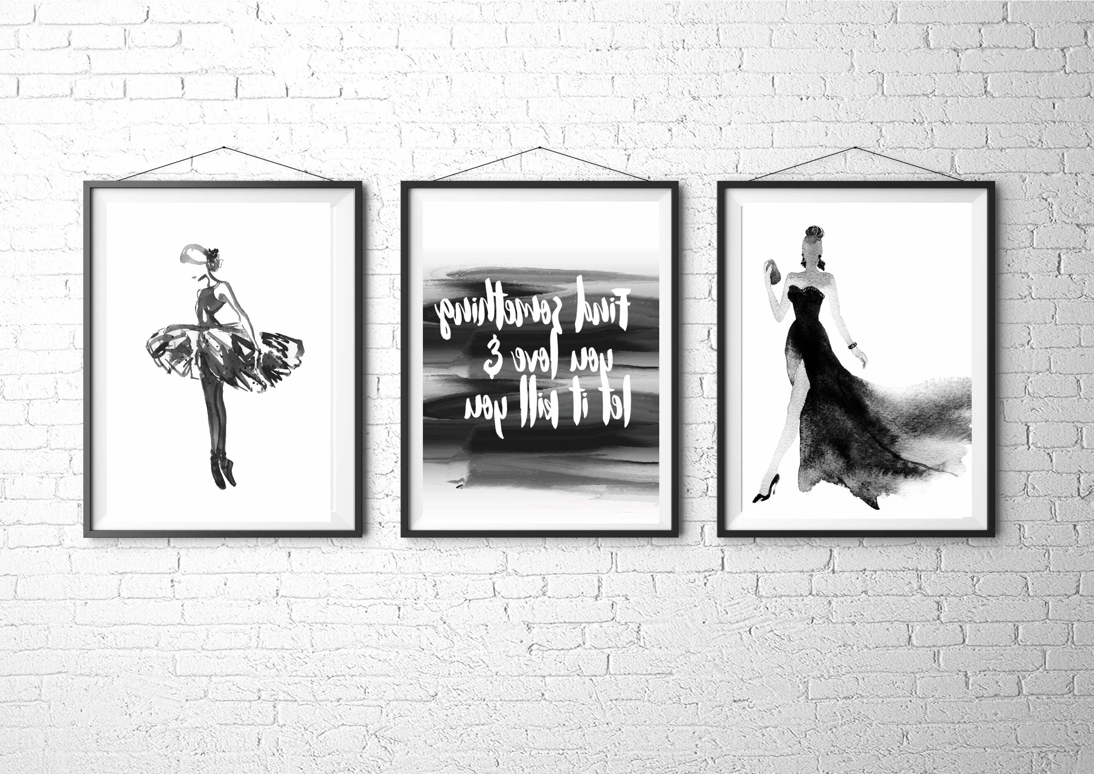 Fashion Wall Art Throughout Favorite Fashion Illustration, Fashion Art Print, Fashion Poster, Vogue (Gallery 1 of 20)