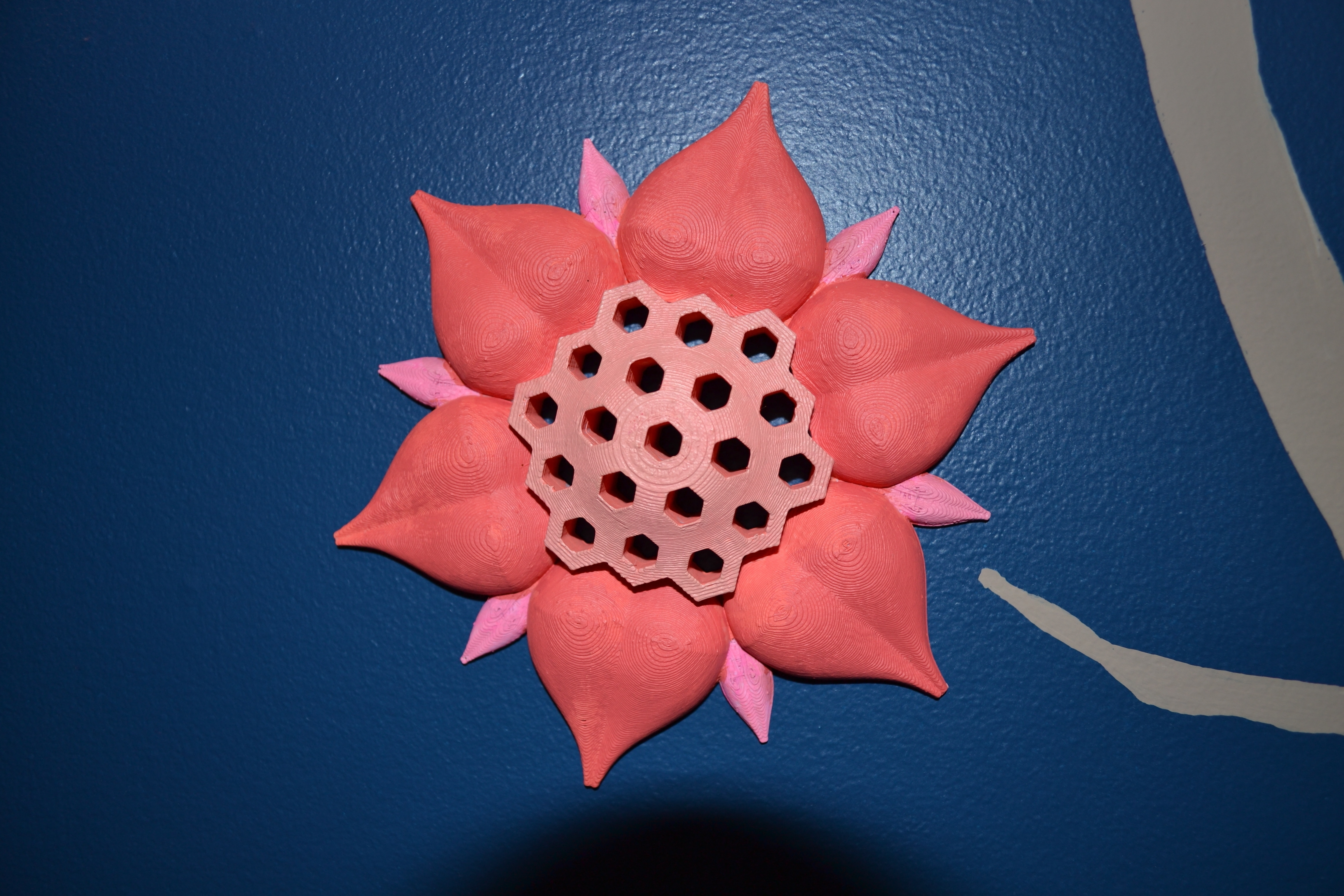 Fashionable 3D Printed Honey Comb Flower Wall Artconcept 2 Creation (View 9 of 20)