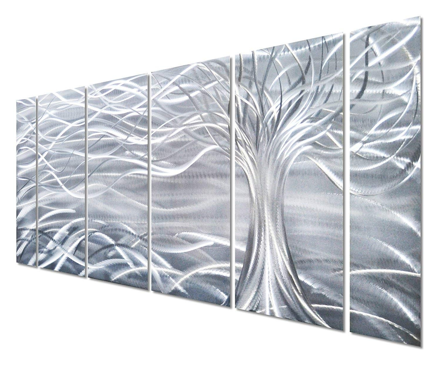 Fashionable Amazon: Pure Art Willow Tree Of Life Metal Wall Art, Abstract Throughout Silver Wall Art (View 7 of 20)