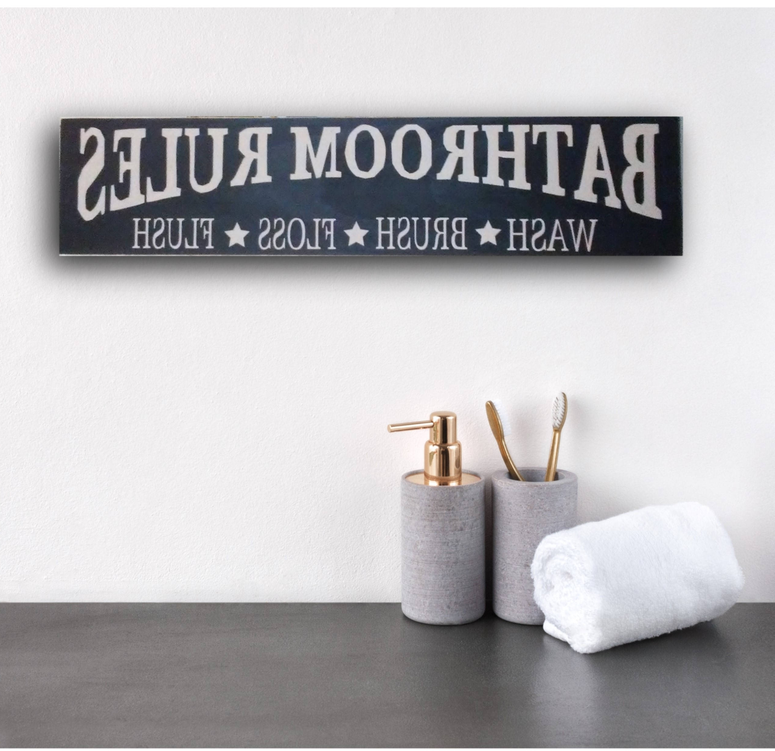 Fashionable Bathroom Rules Wall Art For Rustic Bathroom Sign, Rustic Bathroom Rules Sign, Rustic Bathroom (View 7 of 20)