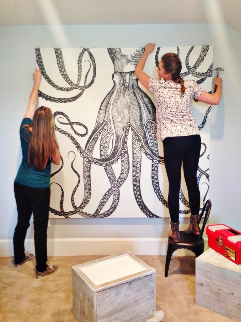 Fashionable Diy Octopus Art – House Of Jade Interiors Blog Inside Octopus Wall Art (View 5 of 20)