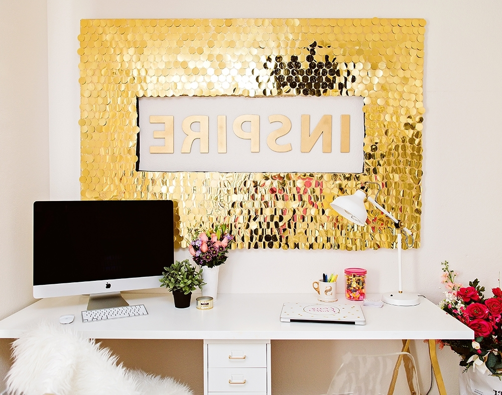 Fashionable Diy Sequins Wall Art Pertaining To Diy Wall Art (View 4 of 15)