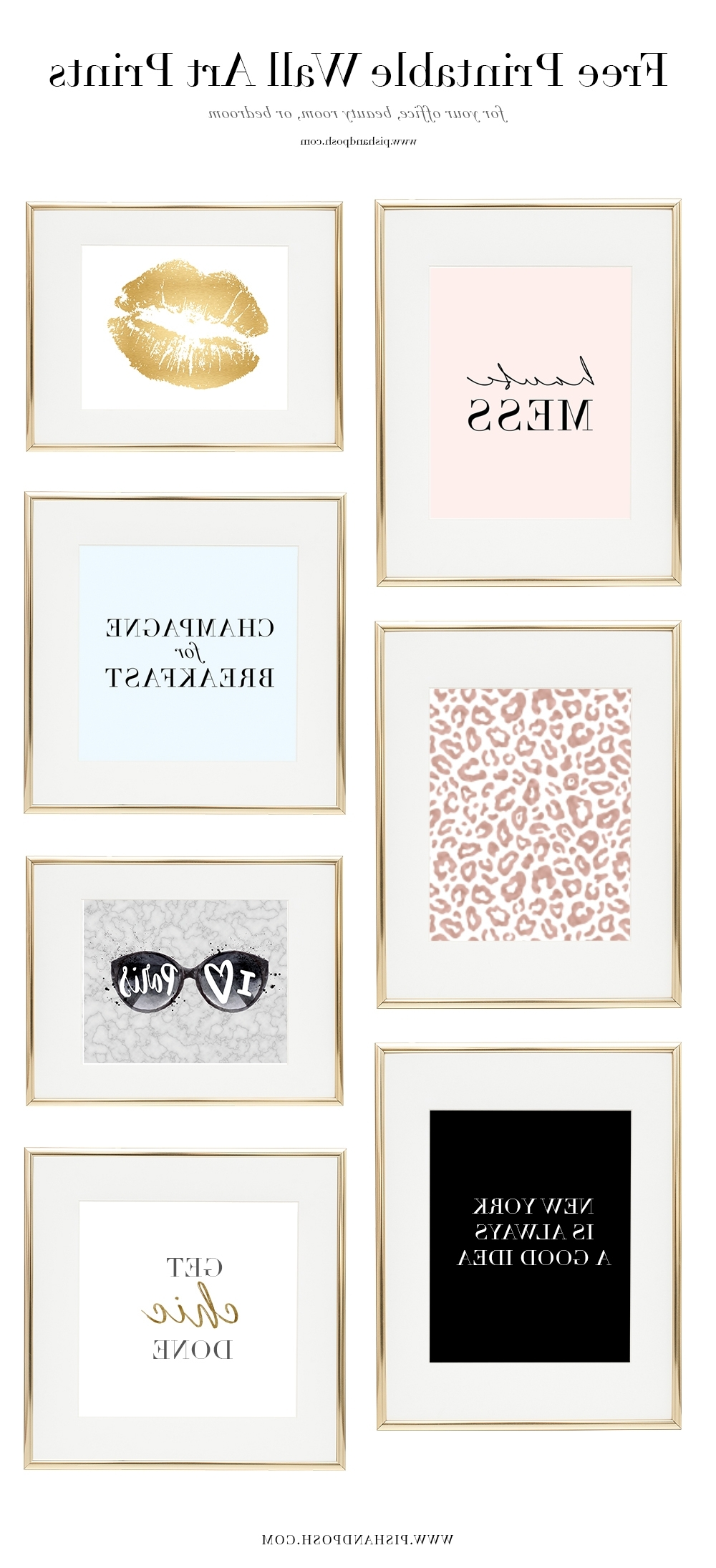 Fashionable Free Printable Wall Art For Free Girl Boss Prints For Your Office, Beauty Room, Or Bedroom (View 4 of 20)