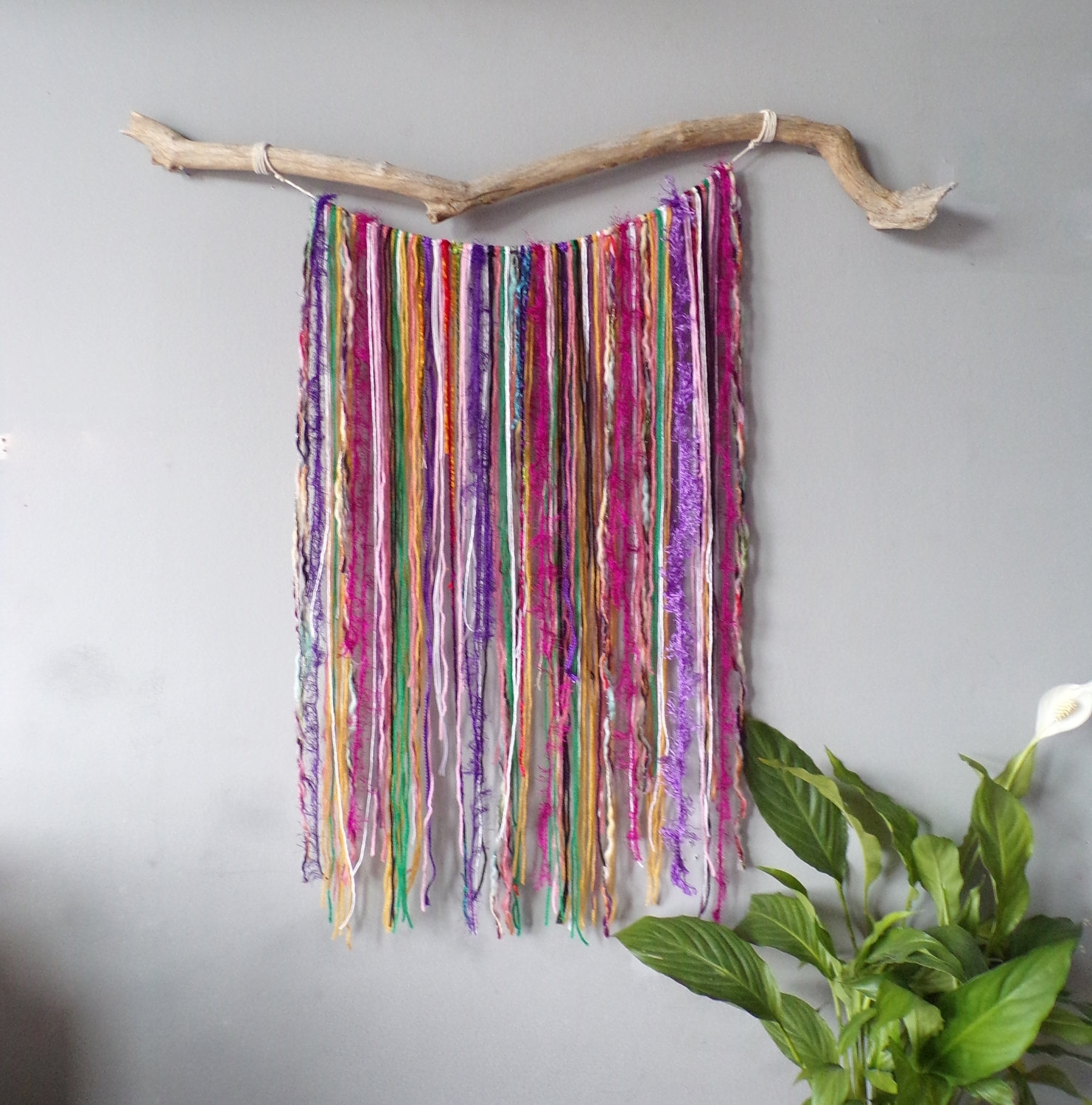 Fashionable Large Yarn Wall Hanging Wall Decor Boho Wall Art Bohemian Decor Intended For Yarn Wall Art (View 7 of 20)