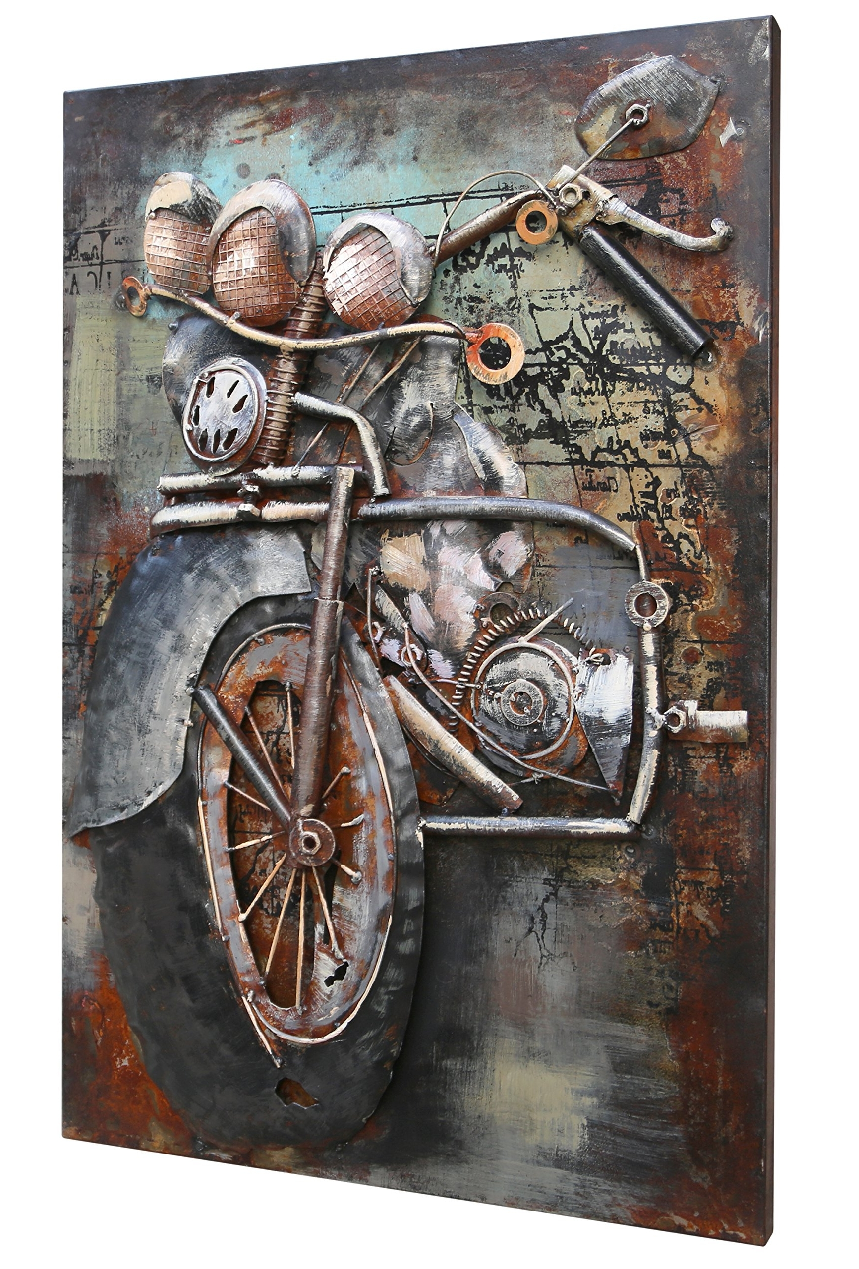 Fashionable Motorcycle Wall Art Within Motorcycle Artwork: Amazon (View 8 of 20)