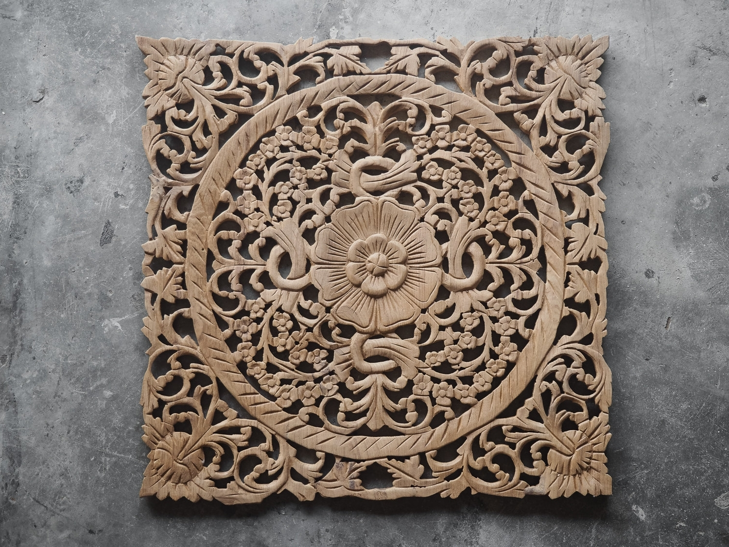 Fashionable Oriental Wall Art Within Buy Lotus Wood Carving Plaque Oriental Decor Online (View 8 of 20)