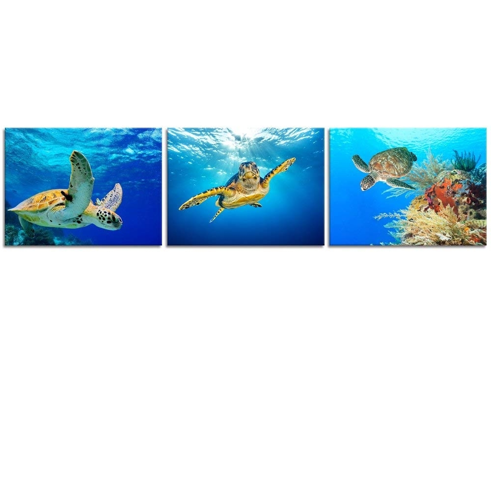 Featured Photo of Sea Turtle Canvas Wall Art