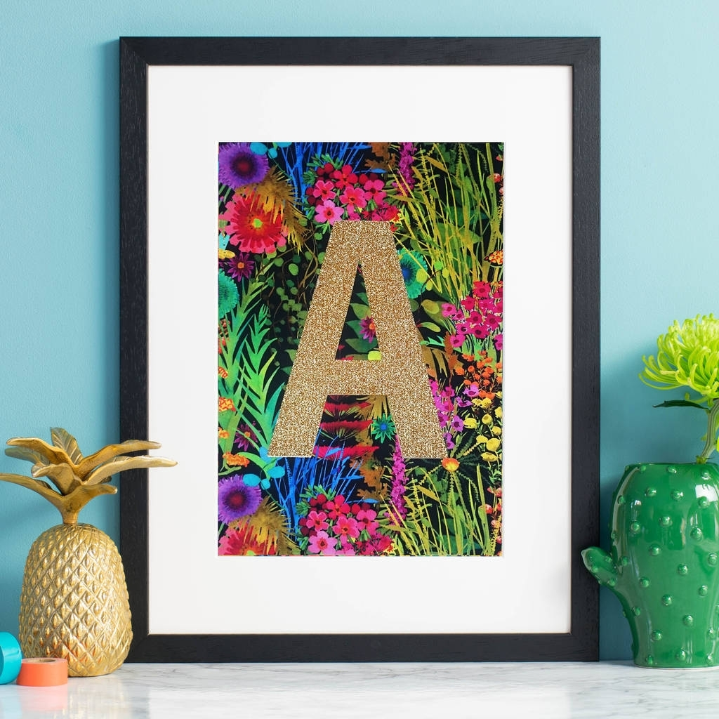 Fashionable Tropical Wall Art With Regard To Monogram Tropical Liberty Fabric Wall Artnickynackynoo (Gallery 4 of 20)