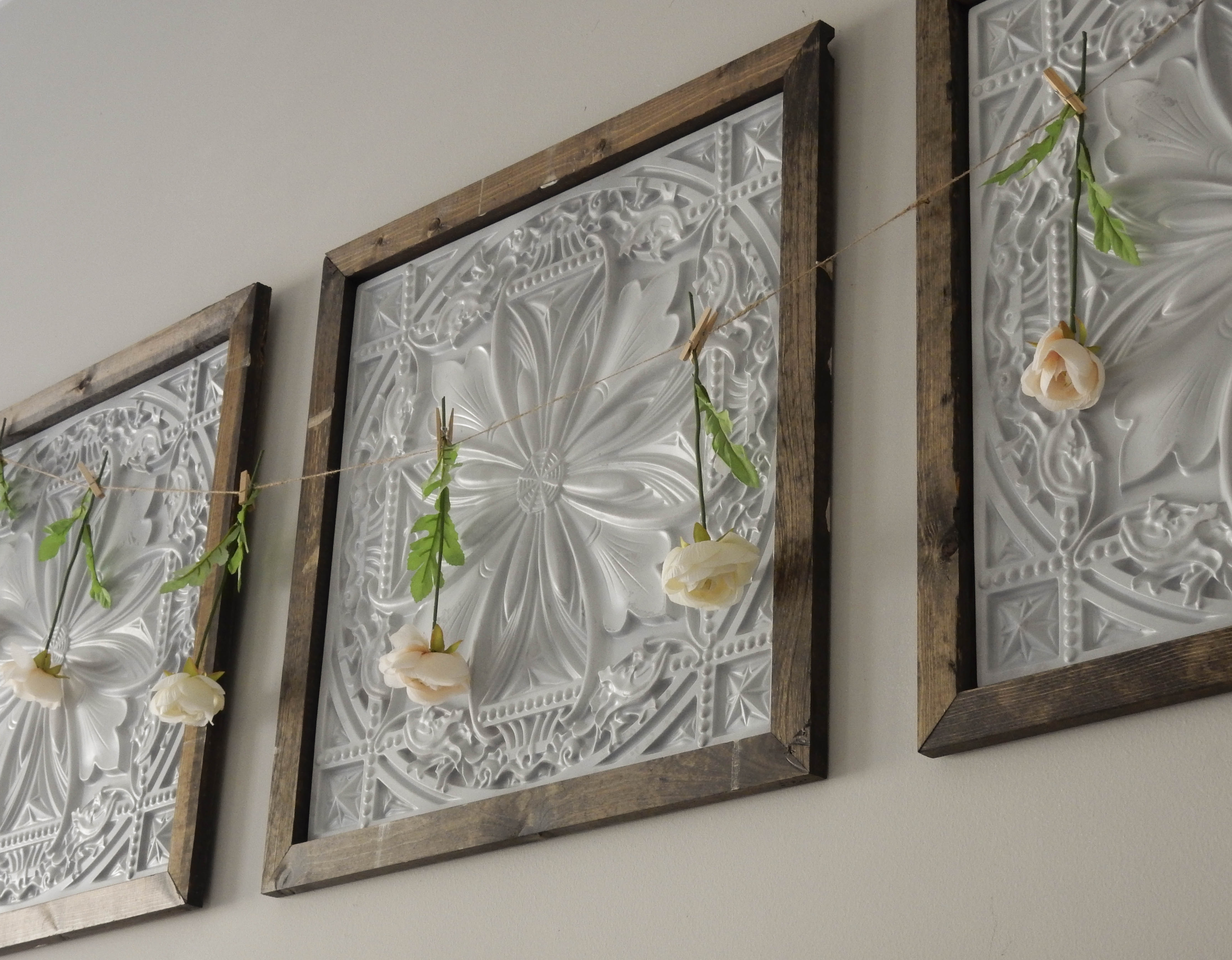 Faux Tin Panel Wall Art Diy – Jones Sweet Homes In Latest Tin Wall Art (View 2 of 20)