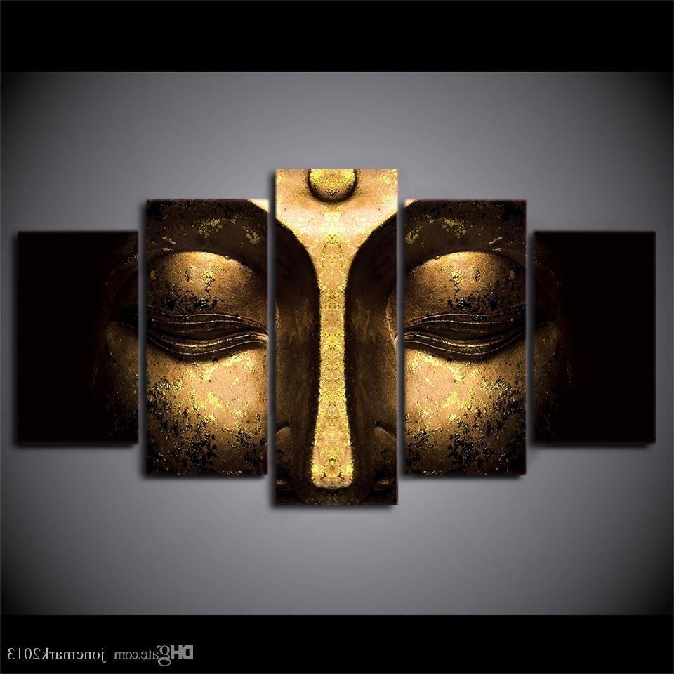 Favorite 2018 Canvas Art Buddha Peaceful Hd Printed Wall Art Home Decor Regarding 5 Piece Wall Art Canvas (View 5 of 15)