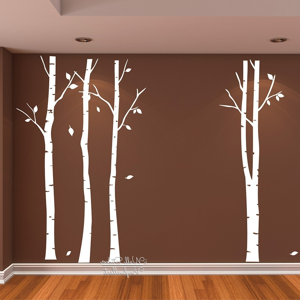 Favorite Birch Tree Wall Art Sticker Modern Large Tree Wall Decal Birch Tree Intended For Birch Tree Wall Art (View 17 of 20)