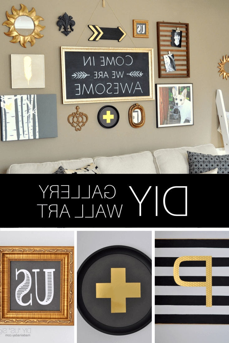 Favorite Black And Gold Wall Art With Diy Black Gold Gallery Wall (View 12 of 20)
