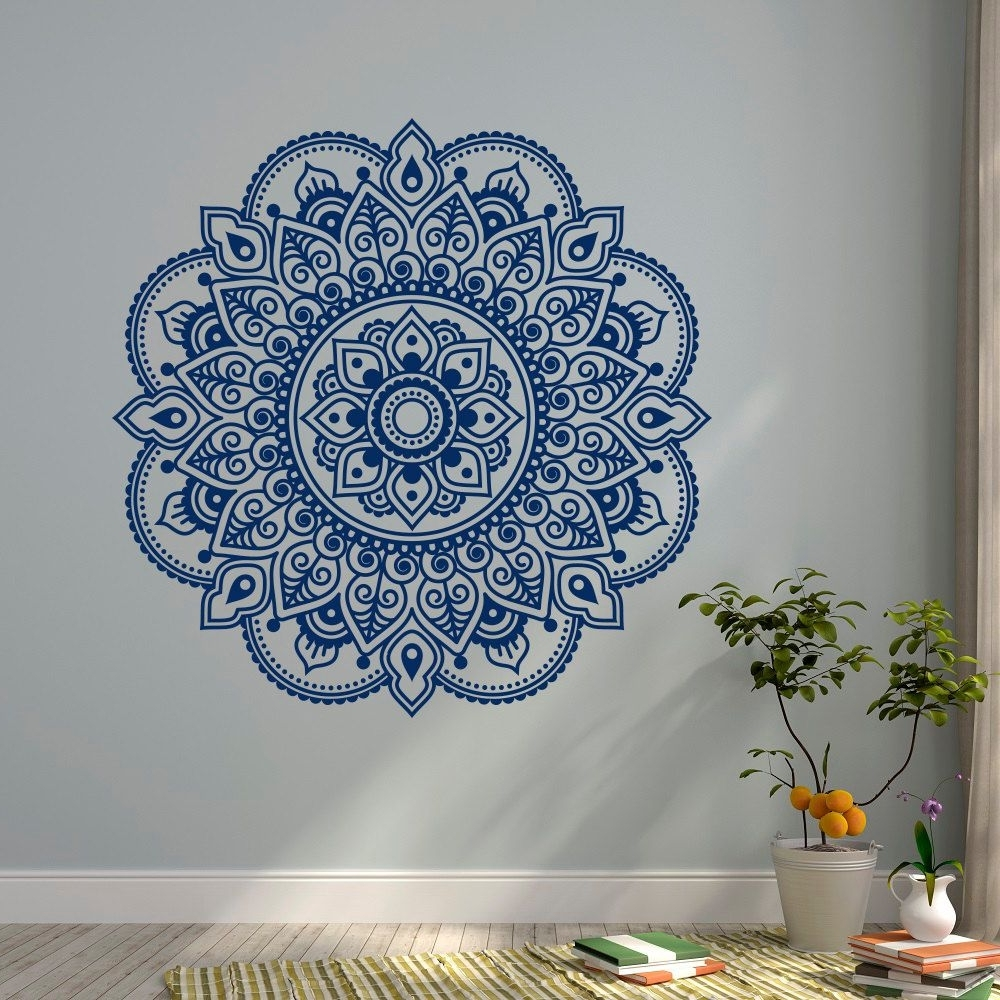 Favorite Blue Mandala Wall Art : Andrews Living Arts – How To Arrange Mandala Within Mandala Wall Art (View 6 of 20)