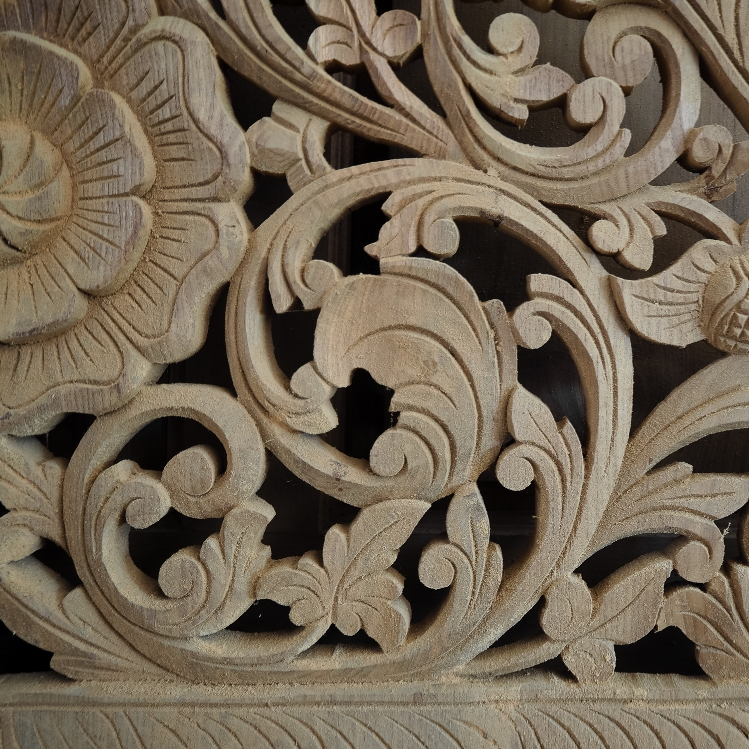 Favorite Buy Carved Bed Panel Oriental Wall Art Decor, Carved Wood Headboard Within Asian Wall Art (Gallery 9 of 15)