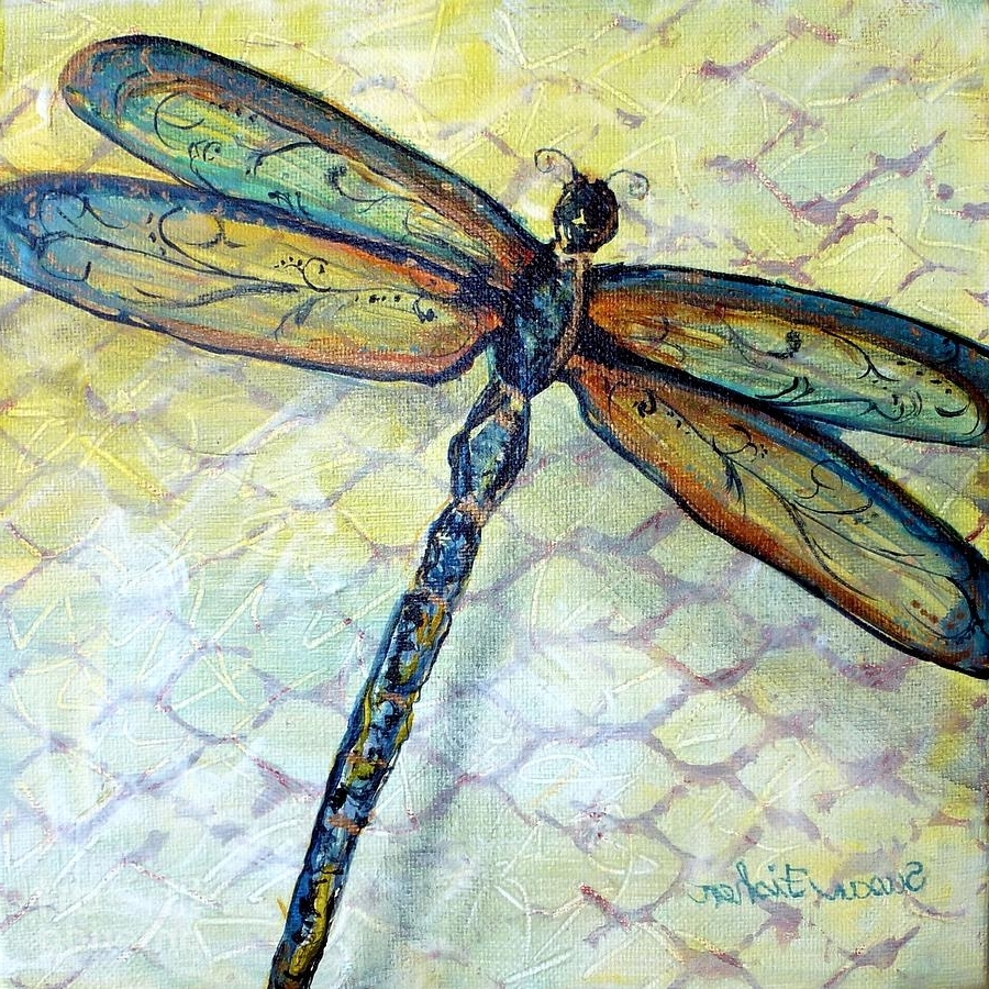 Favorite Dragonfly Painting Wall Art For Dragonfly Dancer Paintingsusan Fisher (View 10 of 20)