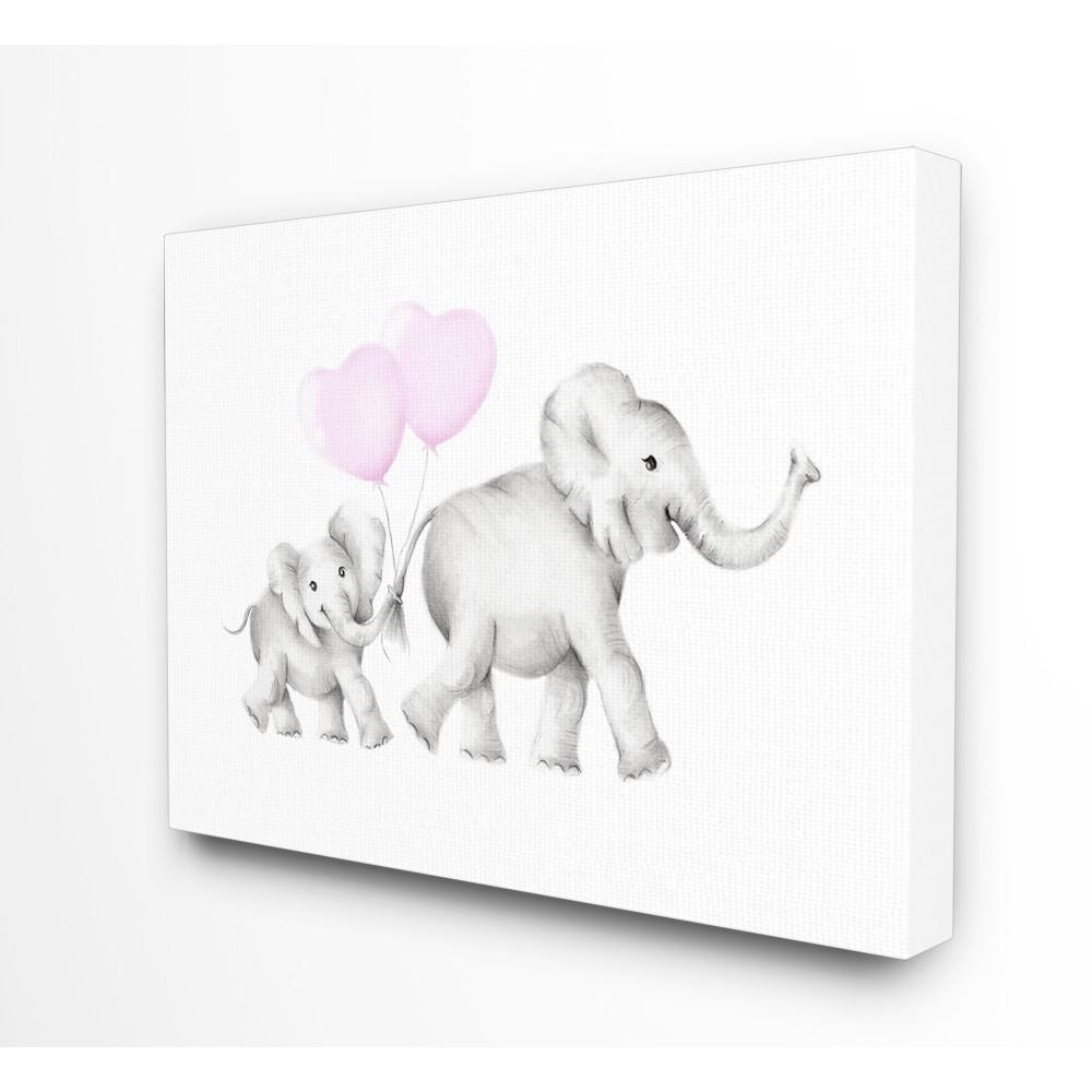 Favorite Elephant Canvas Wall Art With Regard To Stupell Industries 24 In. X 30 In (View 18 of 20)
