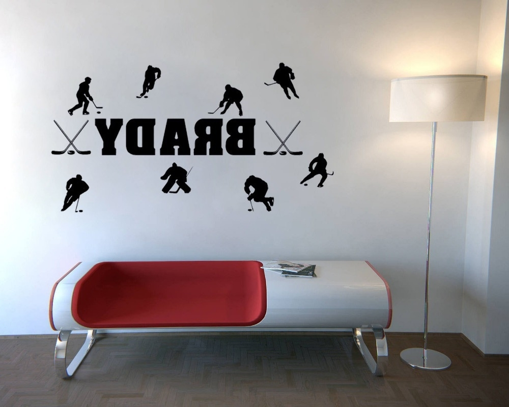 Favorite Hockey Wall Art With Regard To Custom Personalized Match Of Ice Hockey Wall Stickers Quotes Home (View 3 of 15)
