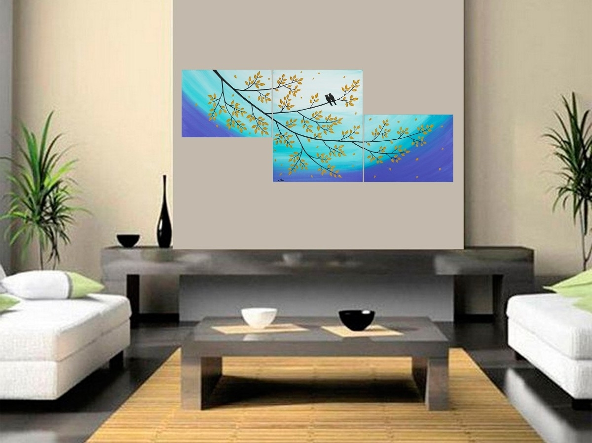 "Favorite Moonlight Sonataqiqigallery 48""x20"" Original Abstract Love Birds For Acrylic Wall Art (View 11 of 20)"